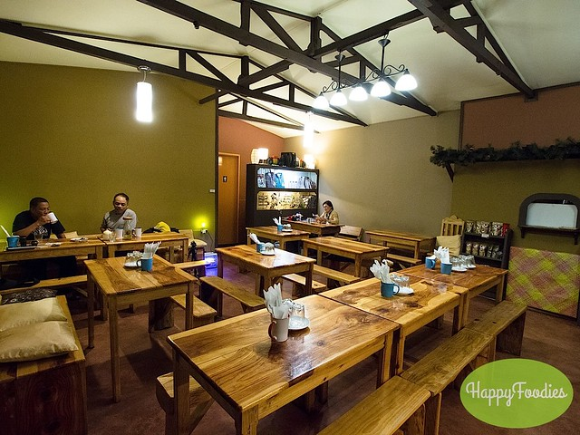 Indoor dining area at Sagada Brew