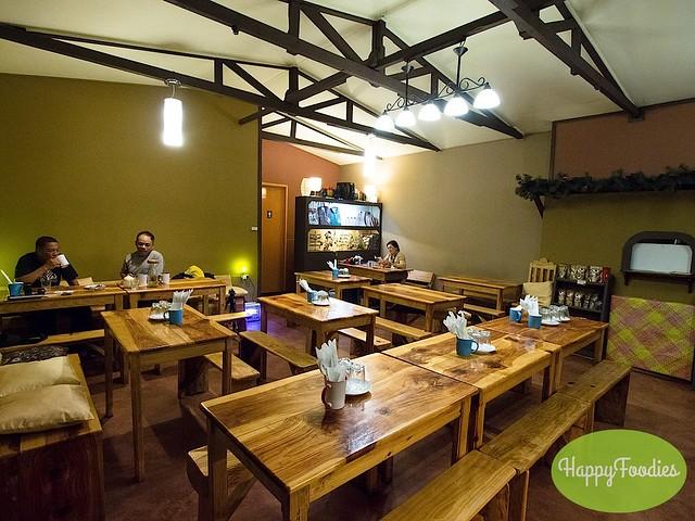 Indoor dining area at Sagada Brew