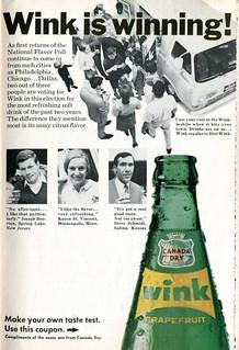 1967 Canada Dry Wink Advertisement Readers Digest June 1967