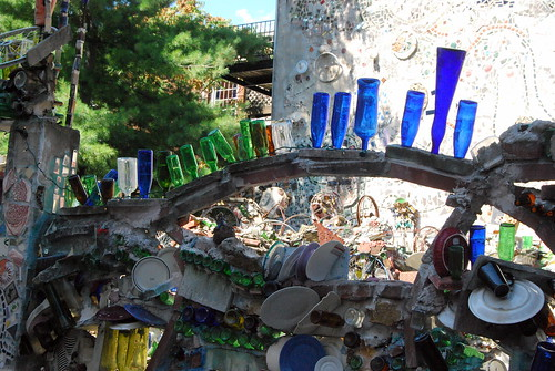Magic Gardens - blue glass-001