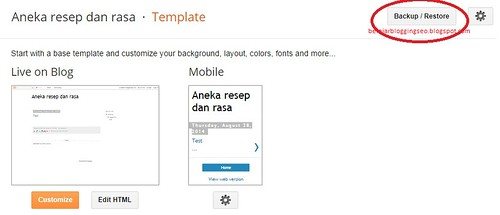 Cara backup template