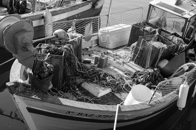 Fischerboot im Hafen / Fishing boat