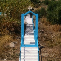 Not quite the Stairway to Heaven #kefalos #Kos #Greece #church