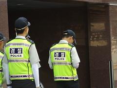 Korean Police on Guard