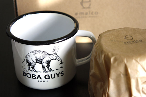 boba guys enamel mugs