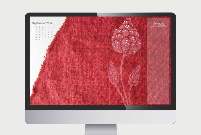 September Red 2014 Desktop