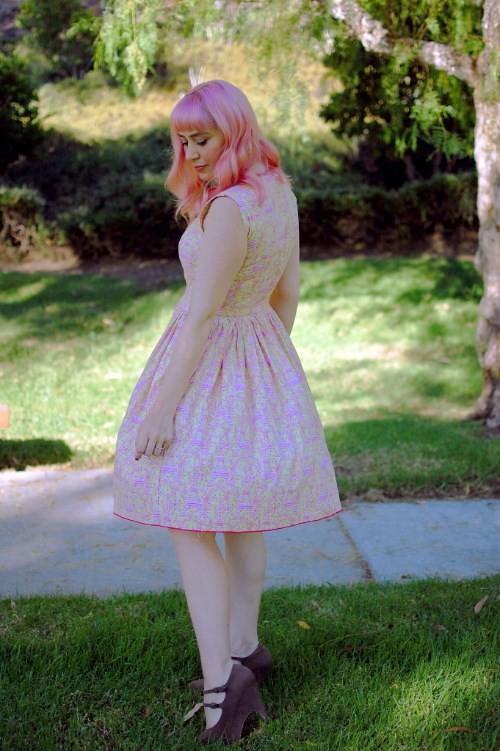 Bernie Dexter Rose dress in Lemonade Eiffel Tower print