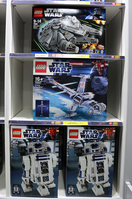 I so want the Millennium Falcon and R2-D2...these are rare box sets limited to one unit per customer per day