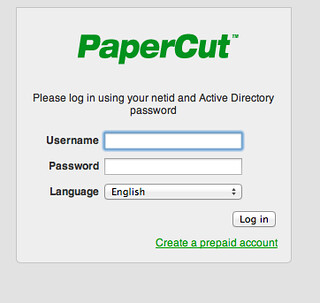 PaperCut is the system that the library uses for printing