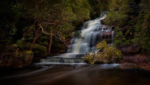 water landscape waterfall falls somersby