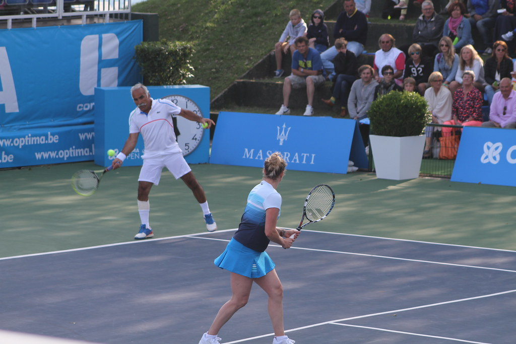 Kim Clijsters and Mansour Bahrami
