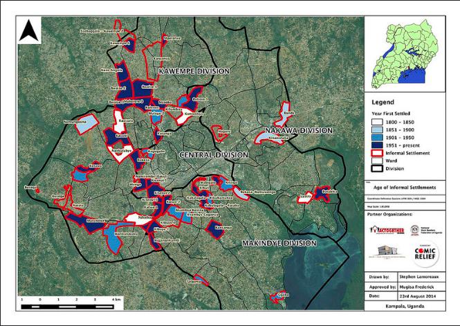 Kampala City Informal Settlements Map
