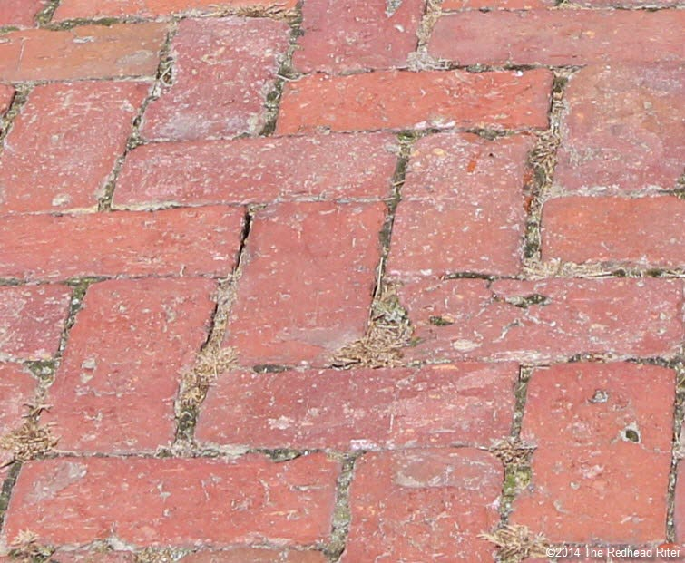 bricks in walkway to plantation house - Stonewall Jackson Died In Guinea, Virginia
