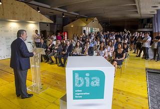 Intervención de José Luis Sabas, concejal de Obras y Urbanismo del Ayuntamiento de Bilbao.
