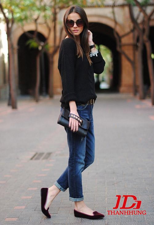 Mẫu quần jeans boyfriend nữ đẹp CỰC chất 11