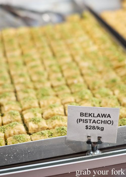 Pistachio baklava at La Galette Patisserie, Merrylands