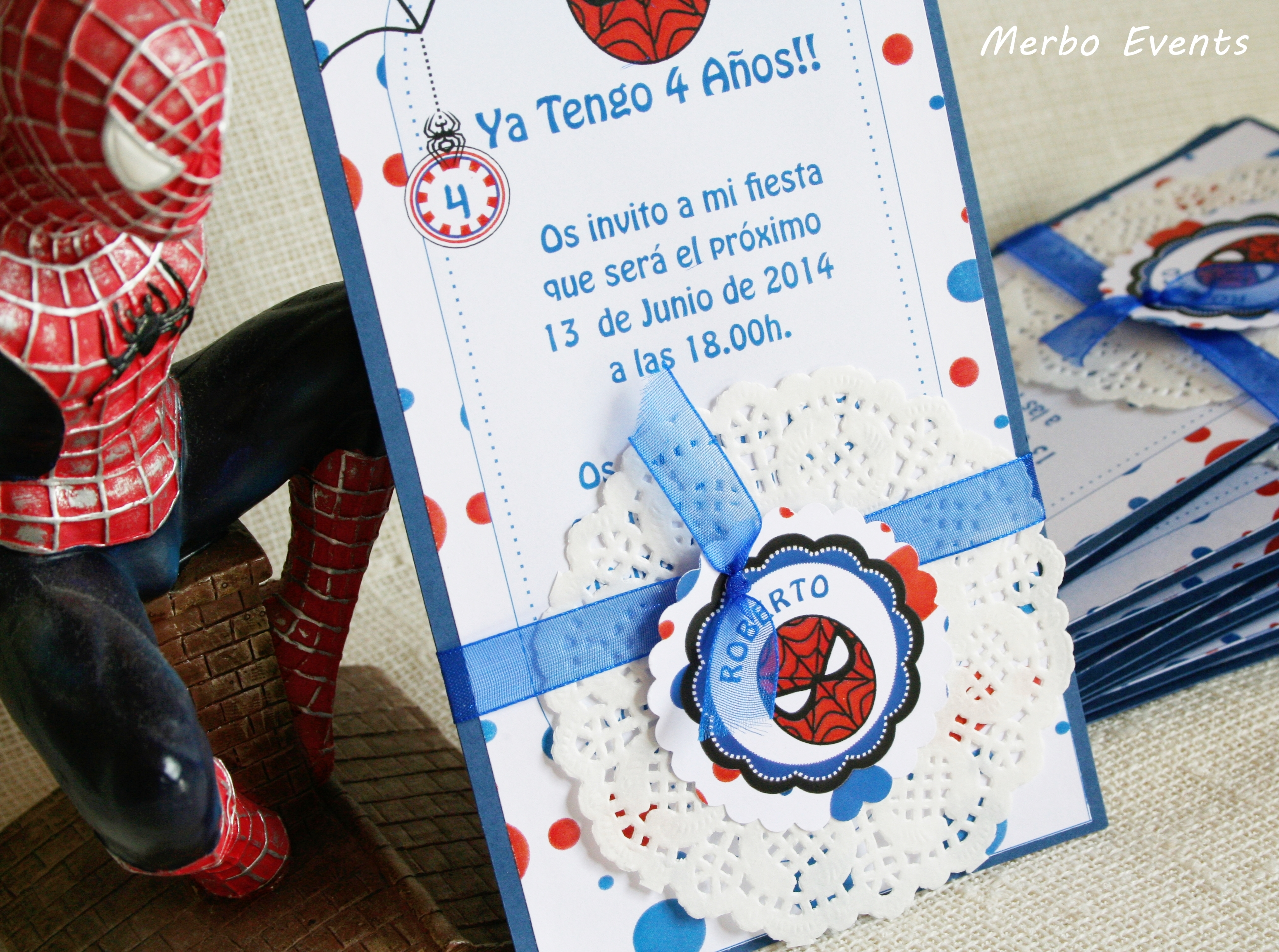 Invitaciones Cumpleaños Spiderman Merbo EVents