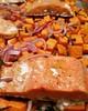 Debate night dinner: Salmon, root veggies, garden herbs, yum