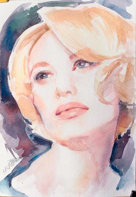 Portrait watercolor, Apple iPad mini 4, iPad mini 4 back camera 3.3mm f/2.4