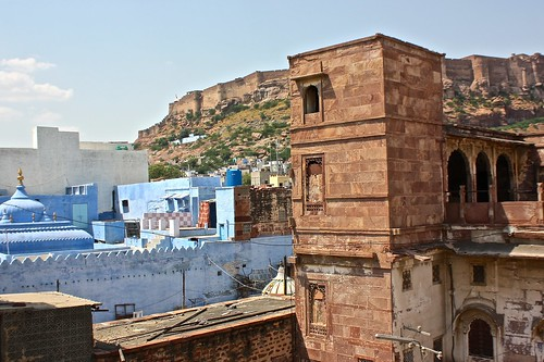 Blue city and the Mehrangarh Fort, one of the largest in India