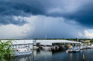 Summer Storm over St. Petersburg, Florida from Maximo Marina