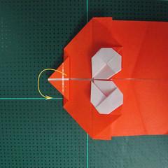 การพับกระดาษเป็นรูปปลาทอง (Origami Goldfish) 015