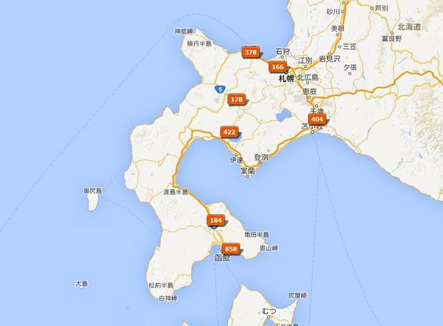 北海道旅遊地圖