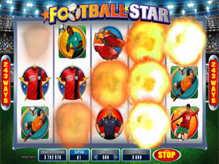 Football Star Rolling Reels Feature