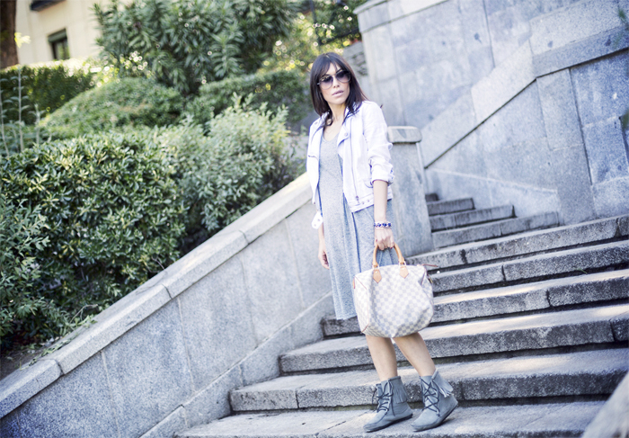 street style barbara crespo cami midi dress the corner fashion blogger outfit blog de moda
