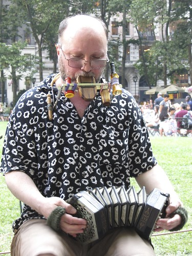 concertina guy becomes one man band
