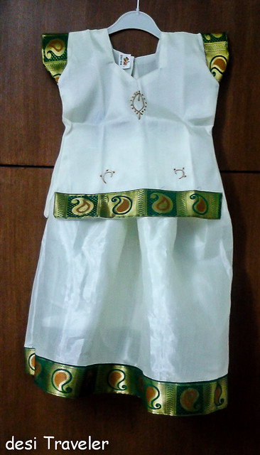 traditional cotton girls dress Kerala Shopping Kasavu