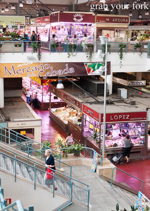 Mercado de la Cebada in Madrid, Spain