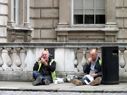 Somerset House lunch break
