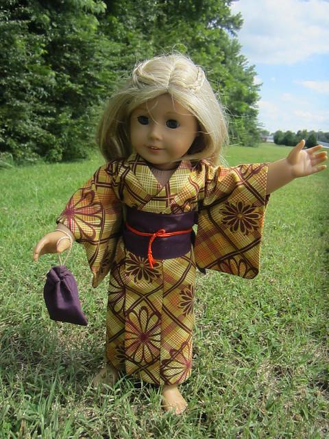 Mustard and Purple Doll Yukata 2