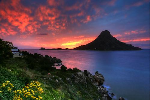 sunset aegean greece grecia griechenland hdr grece kalymnos dodecanese ελλάδα telendos δωδεκάνησα κάλυμνοσ
