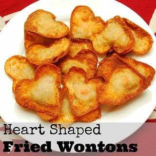 Heart Shaped Fried Wontons - Multiples in the Kitchen by The Silly Pearl