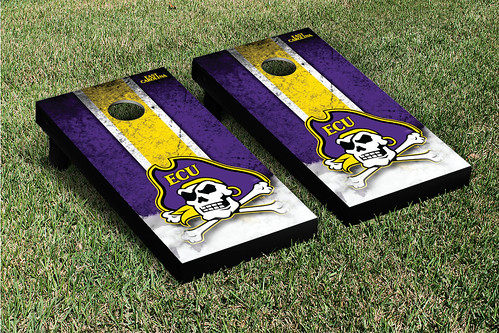 East Carolina University ECU Pirates Cornhole Game Set Grunge