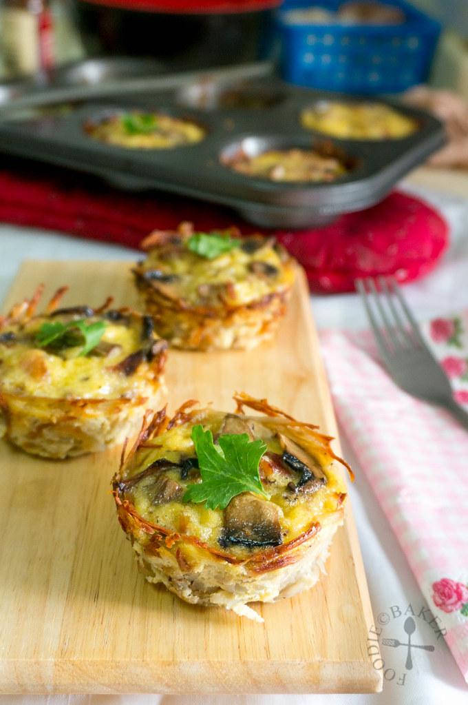 Potato-Crusted Mini Quiche