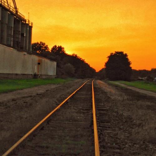 sunset orange landscapephotography ravennaohio mobilephotography iphonephotography portagecountyhikebiketrail flickrsunsets august2014 sunsetsofflickr