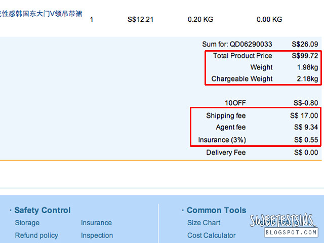 65daigou shipping fee agent fee