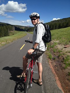 Chris on Mountain Bike