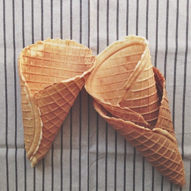 Homemade Waffle Cones