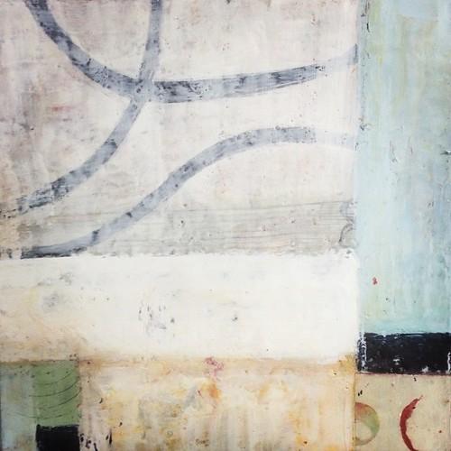 #workinprogress #encaustic #abstract #mixedmedia #art #studio #studiotable
