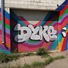 the prettiest #dyke thus far! two excellent specimens in one day! located on the side of Fred's key shop, NE corner of m l king jr & second #detroit #graffiti