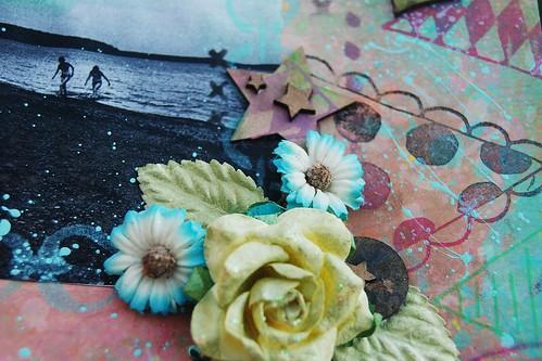live love flowers star close