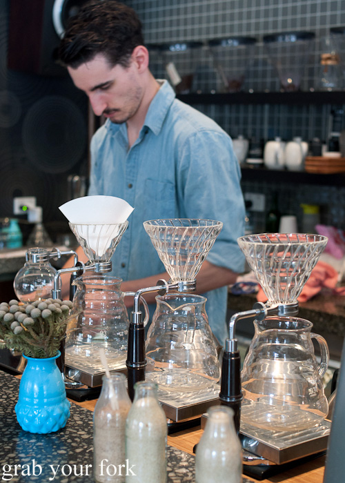 V60 pour over vessels at Proud Mary Coffee in Collingwood, Melbourne