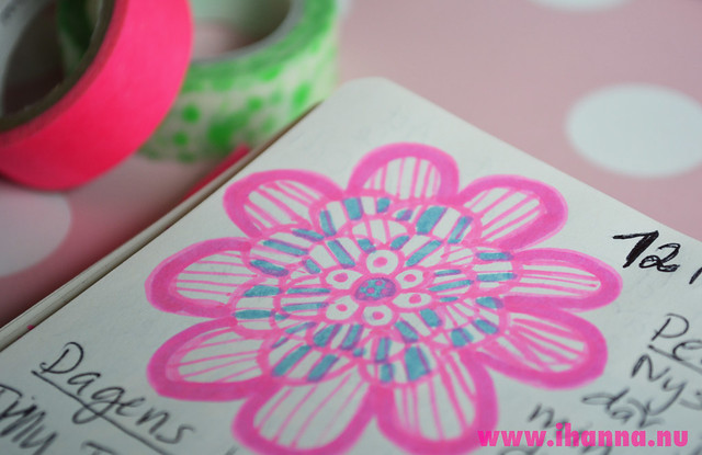 Pink and blue Diary Flower