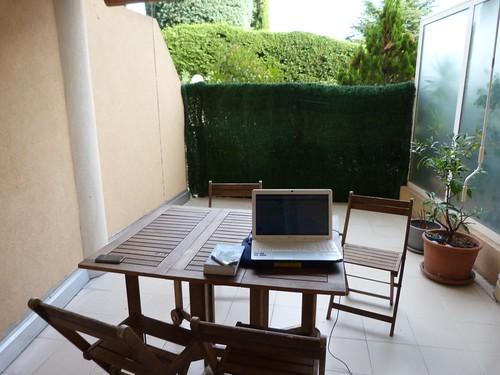 Terraza de nuestro apartameto en Cannes