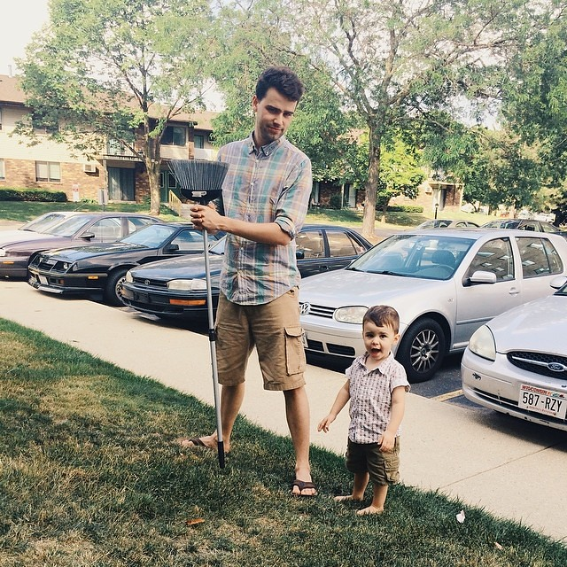 Oliver men on a Sunday afternoon. #latergram #instaluther #toddler #children #fatherhood