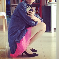 #jeans #shirt with #light #pink #skirt #outfit #inspiration #newideas #fashion #style #selfie